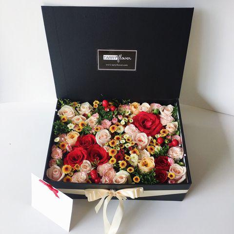 hộp đựng hoa hồng